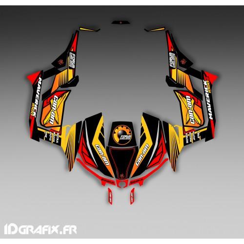 Kit de decoración Foro de la Serie Am Amarillo - Idgrafix - Can Am 1000 Maverick -idgrafix