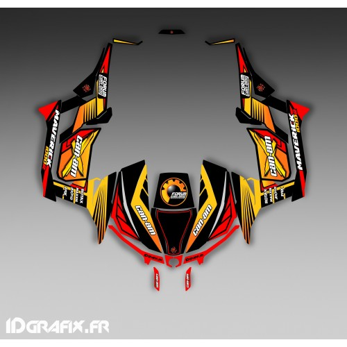 Kit dekor-Forum Can Am Series Gelb - Idgrafix - Can Am Maverick 1000 -idgrafix