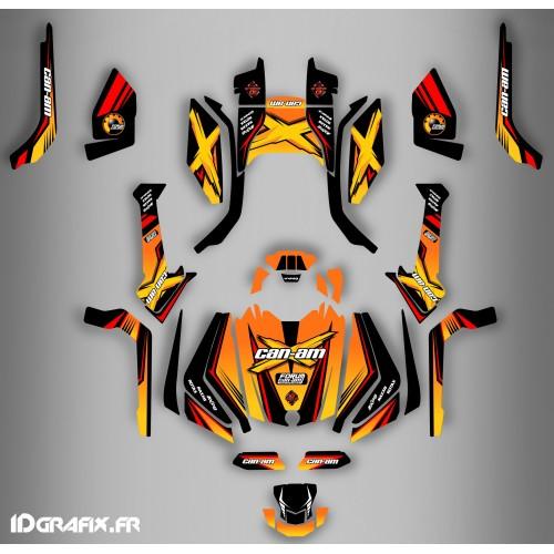 Kit de decoración Foro de la Serie Am Amarillo Completo IDgrafix - Can Am Outlander (G2) -idgrafix