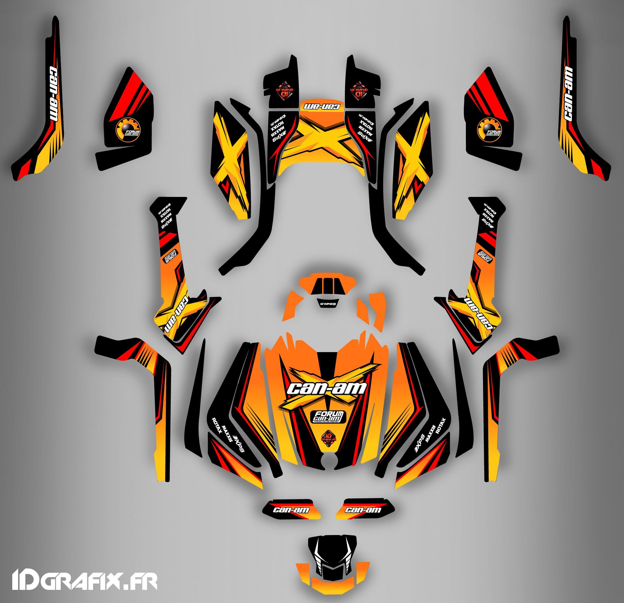 Kit de decoración Foro de la Serie Am Amarillo Completo IDgrafix -...