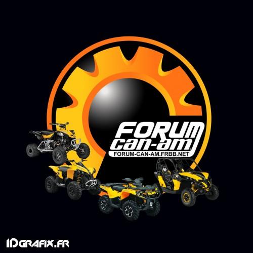 Los 2 Sticker - Forum Can-Am (10cm) -idgrafix