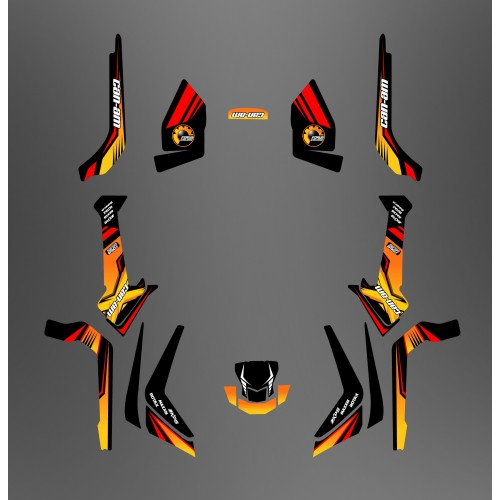 Kit décoration Forum Can Am Series Jaune Light - IDgrafix - Can Am Outlander (G2)