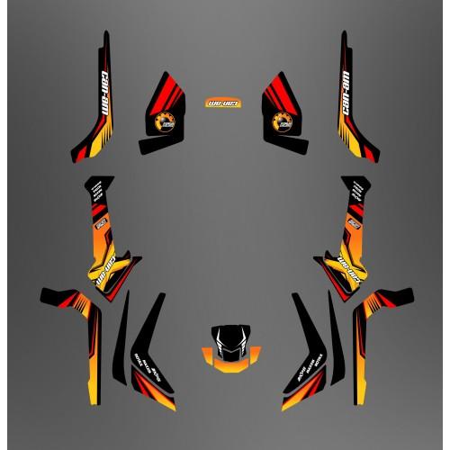 Kit de decoración Foro de la Serie Am Luz Amarilla - IDgrafix - Can Am Outlander (G2) -idgrafix