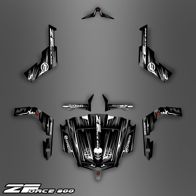 Kit Decoration Dark Black Edition Idgrafix Cf Moto Zforce