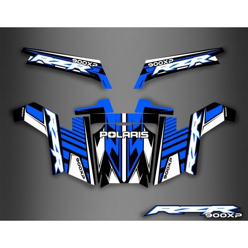 Kit de decoración de la Luz Azul de la Serie - IDgrafix - Polaris RZR 900 XP -idgrafix