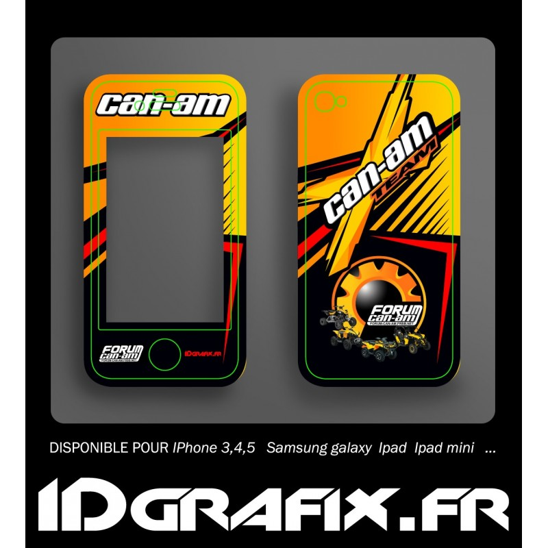 Kit Déco Forum Can Am - Iphone 4 / 4S -idgrafix