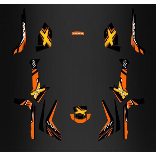 Kit dekor-Orange - Limited Edition- IDgrafix - Can Am Outlander 1000 -idgrafix