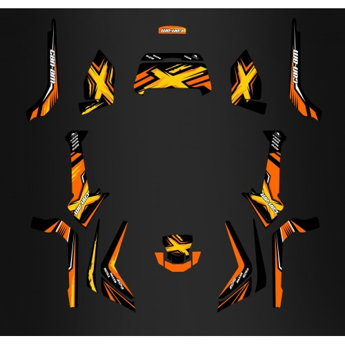 Kit décoration Orange Limited Edition - IDgrafix - Can Am G2 Outlander + Coffre AR