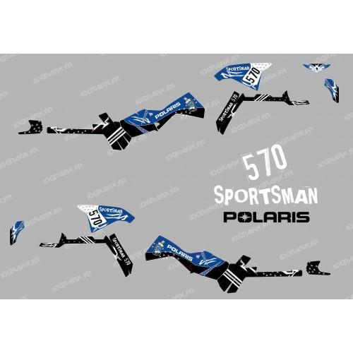 Kit de decoració Carrer Sèrie (Blau) de la Llum - IDgrafix - Polaris 570 Esportista