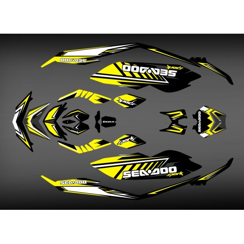 Kit decoration Spark Yellow for Seadoo Spark-idgrafix