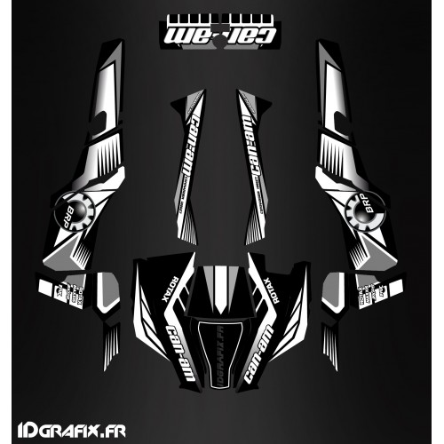 Kit décoration Grey Series - IDgrafix - Can Am 1000 Commander-idgrafix