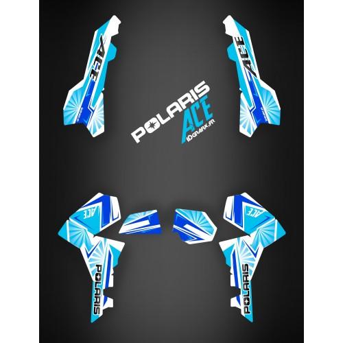 Kit de decoración de Japón de carreras Azul - IDgrafix - Polaris Sportsman ACE -idgrafix