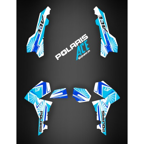 Kit decoration Japan racing Blue - IDgrafix - Polaris Sportsman ACE-idgrafix
