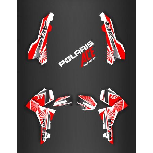 Kit de decoración de Japón de carreras Rojo - IDgrafix - Polaris Sportsman ACE -idgrafix