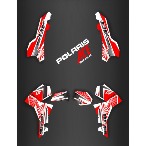 Kit decoration Japan racing Red - IDgrafix - Polaris Sportsman ACE - IDgrafix