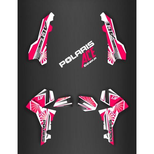 Kit de decoración de Japón de carreras de color Rosa - IDgrafix - Polaris Sportsman ACE -idgrafix