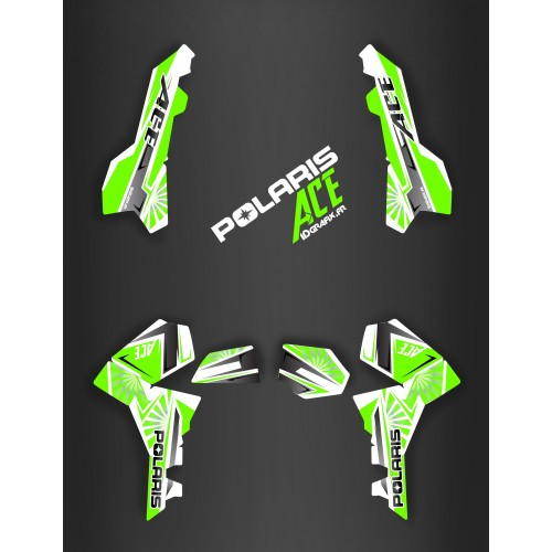 Kit decorazione Giappone racing Green - IDgrafix - Polaris Sportsman ACE -idgrafix