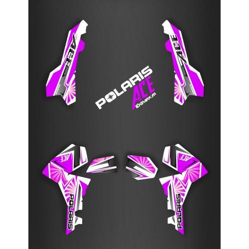 Kit décoration Japan racing Purple - IDgrafix - Polaris Sportsman ACE-idgrafix
