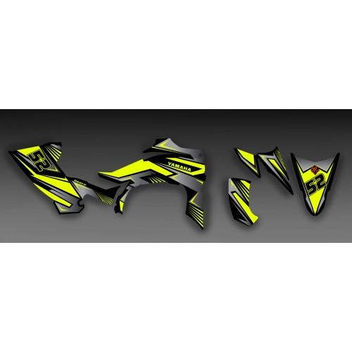 Kit dekor Fury Gelb und Grau - IDgrafix - Yamaha YFZ 450 / YFZ 450R