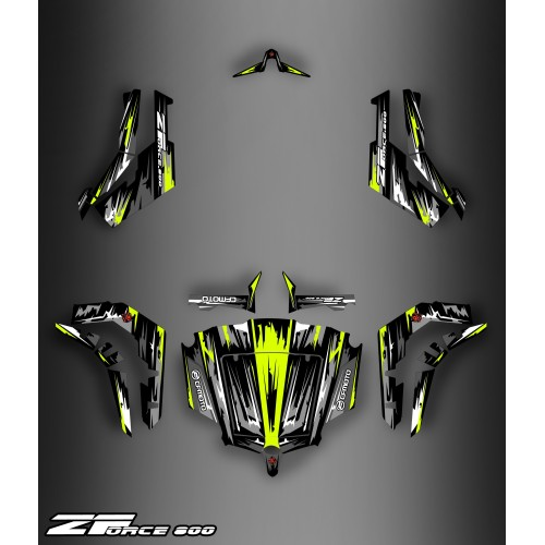 Kit décoration Black/Yellow Edition FULL - Idgrafix - CF Moto ZForce-idgrafix