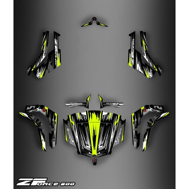 Kit Decoration Black Yellow Edition Idgrafix Cf Moto Zforce 800