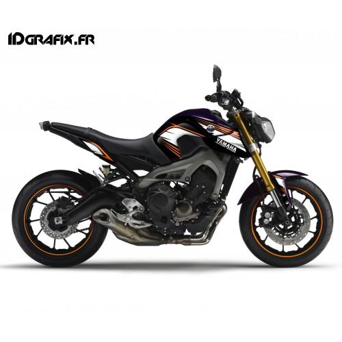 Kit décoration Racing orange - Yamaha MT-09 (jusqu'à 2016)-idgrafix