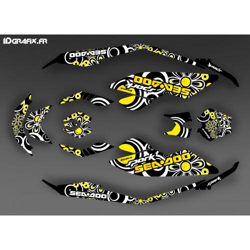 Kit decoration, Full Spark Yellow Polynesian for Seadoo Spark - IDgrafix