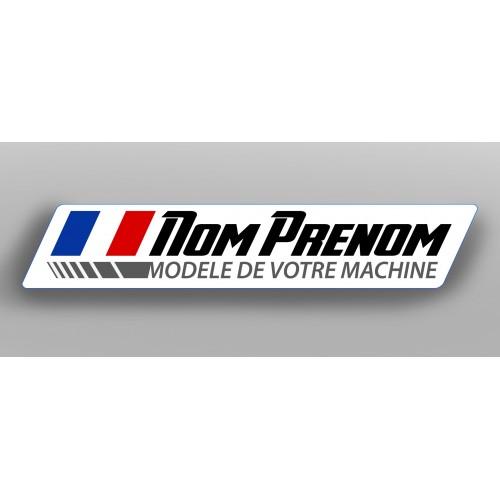Los 2 Sticker Racing Name-Treiber (länge 12cm) -idgrafix