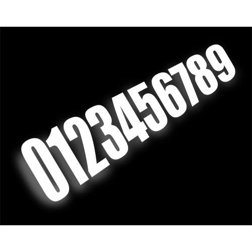 Numéro de course Blanc (taille 15cm)-idgrafix