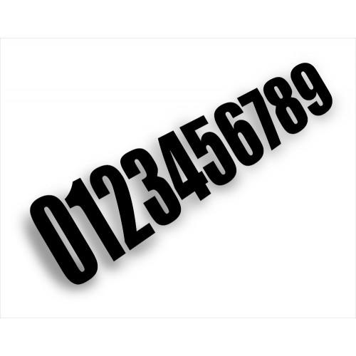 Numéro de course Noir (taille 15cm)-idgrafix