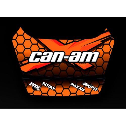 Kit décoration X Team 2 Can Am - coffre origine BRP-idgrafix