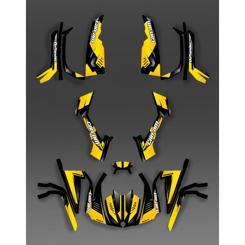 Kit décoration Full Wasp (Jaune) - IDgrafix - Can Am série L Outlander-idgrafix