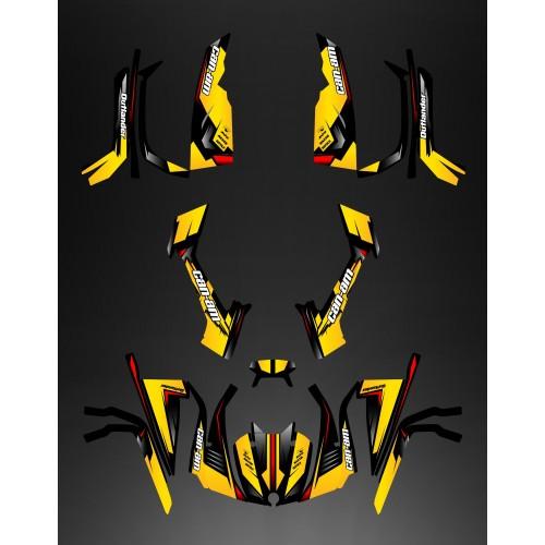 Kit decorazione Piena di Vespa (Giallo/Rosso) - IDgrafix - Can Am serie Outlander -idgrafix