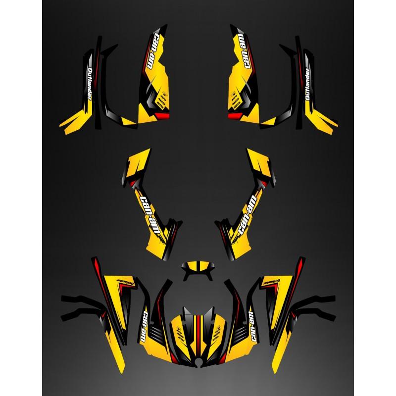 Kit decoration Full Wasp (Yellow/Red) - IDgrafix - Can Am series The Outlander-idgrafix