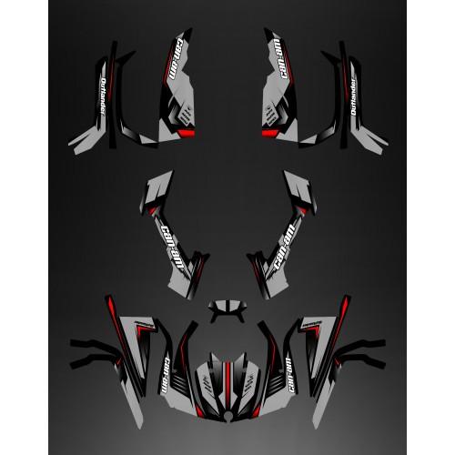 Kit dekor Full Wasp (Grau) - IDgrafix - Can-Am L-serie Outlander -idgrafix