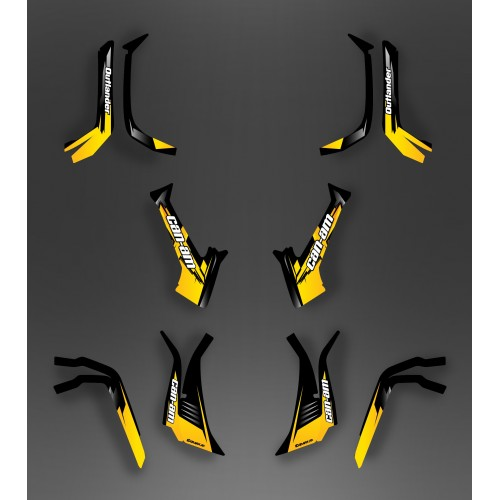 Kit décoration Light Wasp (Jaune) - IDgrafix - Can Am série L Outlander-idgrafix