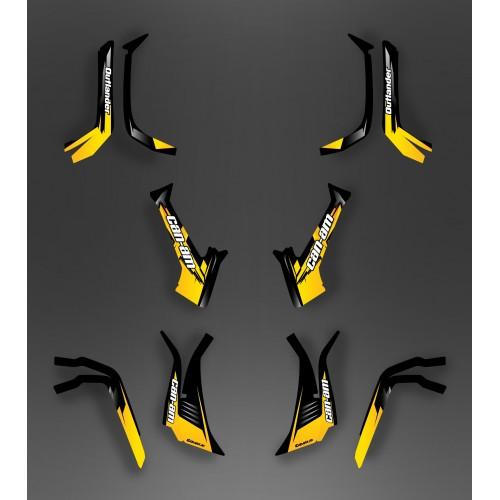 Kit Luce della decorazione di Vespa (Giallo) - IDgrafix - Can Am serie Outlander -idgrafix