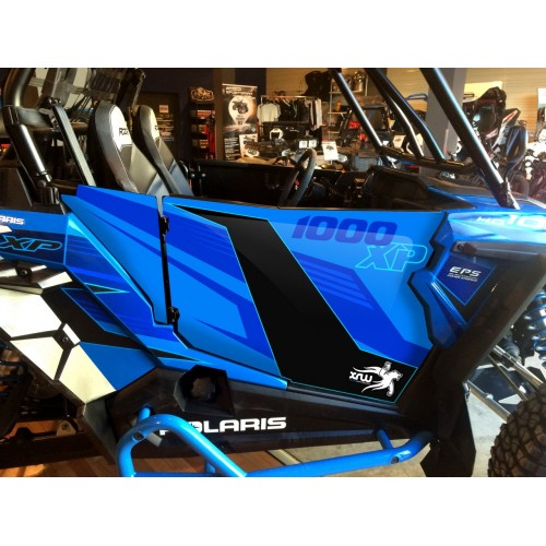 Kit décoration Portes Origine Polaris Vodoo Blue - IDgrafix - RZR 900 / 1000 XP-idgrafix