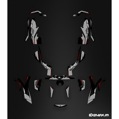 Kit decoration Wasp Series Gray Full - IDgrafix - Can Am Outlander (G1) - IDgrafix