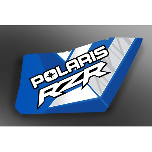 Kit décoration Portes Origine Polaris Blue - IDgrafix - RZR 570-idgrafix