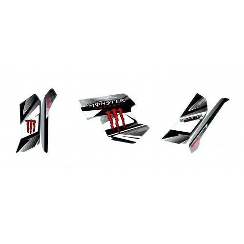 Kit de decoración Monstruo Rojo - IDgrafix - Yamaha Grizzly 550-700 -idgrafix