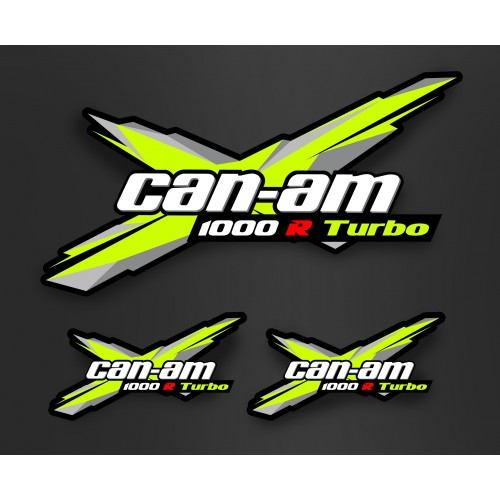 Kit décoration Portes + Toit - Xteam Can Am - IDgrafix - Maverick Turbo