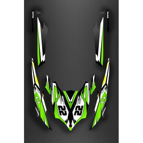 Kit decorazione Verde SRL di Luce per Kawasaki Ultra 250/2620/300/310R -idgrafix