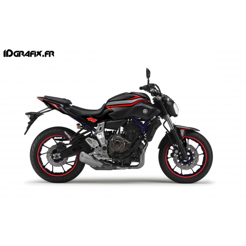 Kit décoration Racing rouge - IDgrafix - Yamaha MT-07