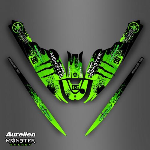 Kit décoration Monster Green for Yamaha Super Jet