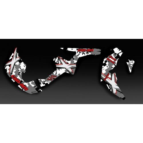Kit di decorazione Digitale Camo Rosso Pieno IDgrafix - Can Am Renegade