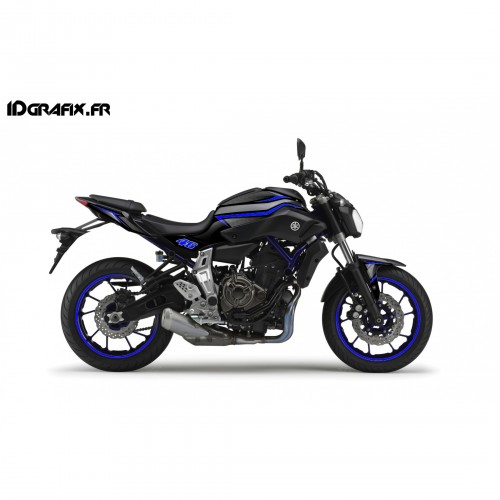 Kit décoration Racing Bleu - IDgrafix - Yamaha MT-07