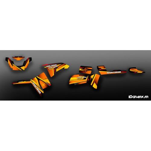 Kit de decoració Sèrie Taronja - IDgrafix - Polaris 800 Esportista