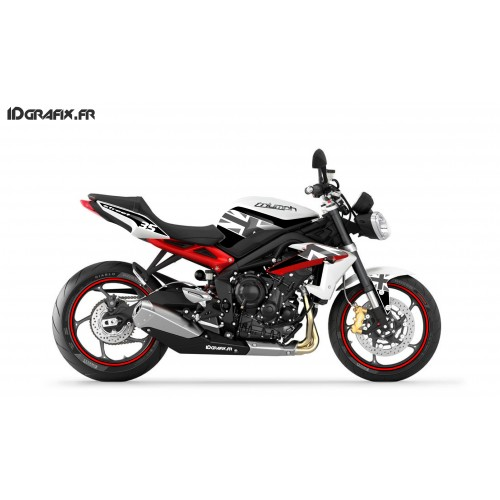 Kit deco Perso per a Triumph Speed triple (Vermell) -idgrafix
