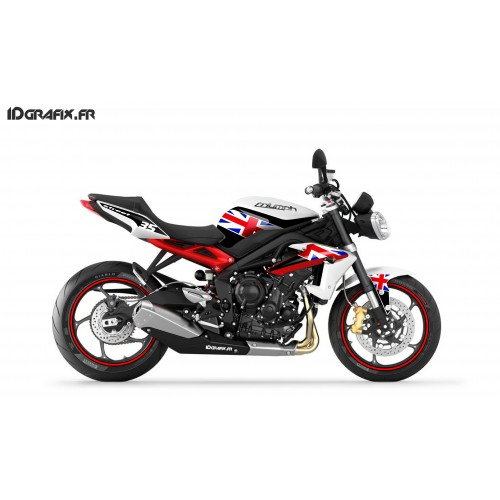 Kit deco Perso for Triumph Speed triple (Red+GB Flag) - IDgrafix